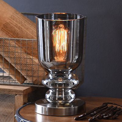 Edison Bulb Smoke Gray Luster Uplight