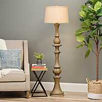 Woodgrain Laney Floor Lamp