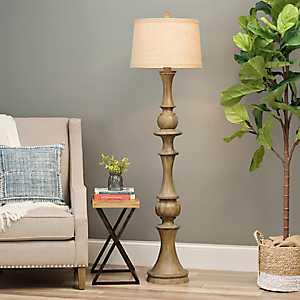 Woodgrain Laney Floor Lamp
