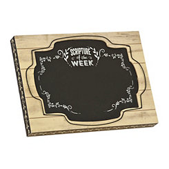 Scripture of the Week Chalkboard Easel