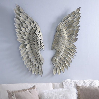 Angel Wing Wall Plaque, Set of 2