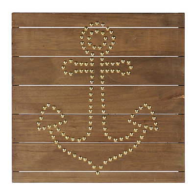 Anchor Nailhead Wall Plaque