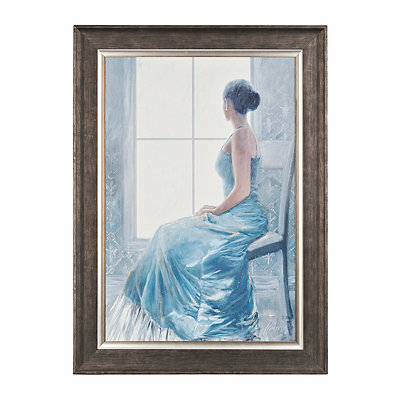 Lady In Blue Framed Art Print