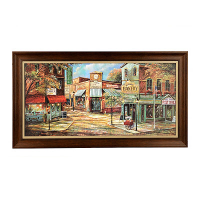 Village Shops Framed Art Print
