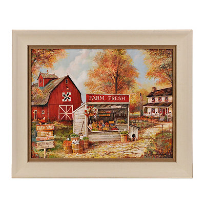 Farm Stand Framed Art Print