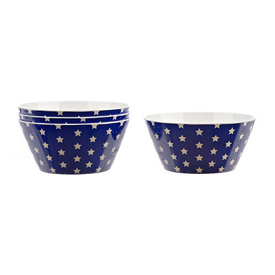 Blue Stars America Bowls, Set of 4