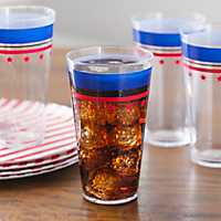 Red and Blue Liberty Tumblers, Set of 4
