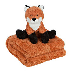 Fox Plush Toy and Throw Blanket Set
