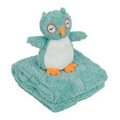 Owl Plush Toy and Throw Blanket Set