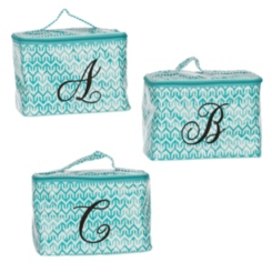 Turquoise Arrow Monogram Cosmetic Train Cases