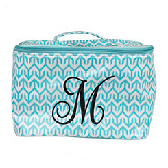 Turquoise Arrow Monogram M Cosmetic Train Case