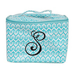 Turquoise Arrow Monogram S Cosmetic Train Case