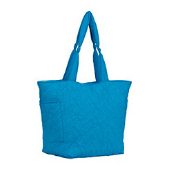 Quilted Blue Tote Bag