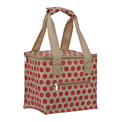 Red Polka Dot Lunch Tote