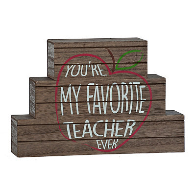 Favorite Teacher Ever Word Blocks, Set of 3