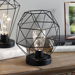 Black Triangle Cage Decorative Light