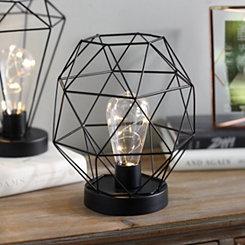 Black Triangle Cage Decorative Light