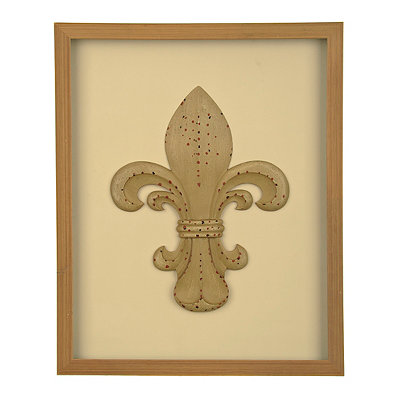 Fleur-de-lis Relic Shadowbox
