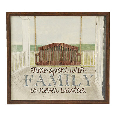 Time with Family Porch Shadowbox