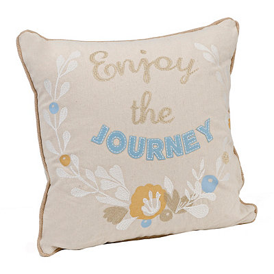 Enjoy The Journey Stitched Pillow