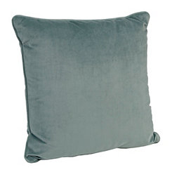 Solid Blue Velvet Pillow