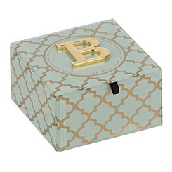 Gold Trellis Monogram B Jewelry Box