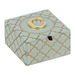 Gold Trellis Monogram C Jewelry Box