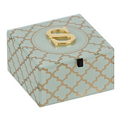 Gold Trellis Monogram S Jewelry Box