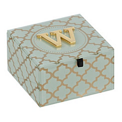 Gold Trellis Monogram W Jewelry Box