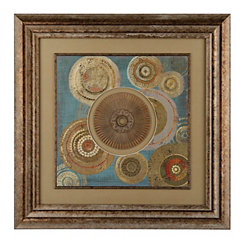 Abstract Medallion Circles Shadowbox