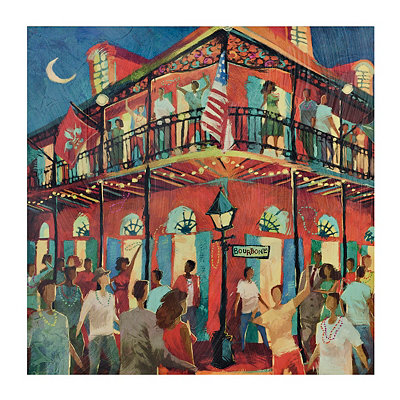 Nola at Night Canvas Art Print