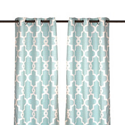 Aqua Maxwell Curtain Panel Set, 108 in.