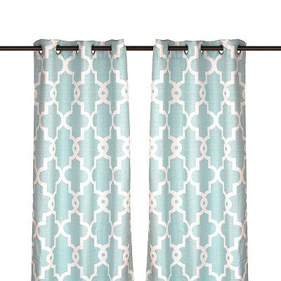 Aqua Maxwell Curtain Panel Set, 108 in.