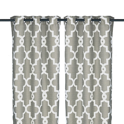 Gray Maxwell Curtain Panel Set, 108 in.