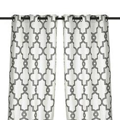 White Maxwell Curtain Panel Set, 108 in.