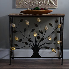 Pre-Lit Metal Tree Console Table