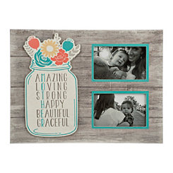 Gray Mason Jar Mother Collage Frame