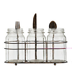 Fork, Knife, and Spoon Flatware Caddy, Set of 4