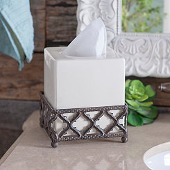 Kingston Quatrefoil Tissue Holder