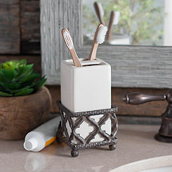 Kingston Quatrefoil Toothbrush Holder