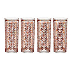 Moroccan Copper Highball Glasses, Set of 4
