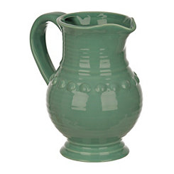 Turquoise Dots Belly Pitcher