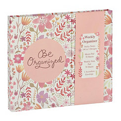 Be Organized Floral Weekly Organizer