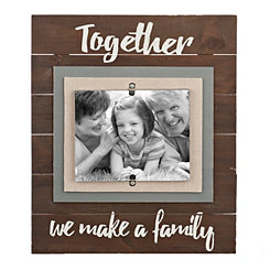 Family Slatted Wood Picture Frame, 8x10