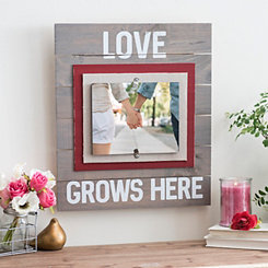 Love Grows Here Picture Frame