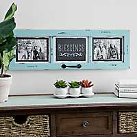 Blue Horizontal Windowpane Picture Collage Frame