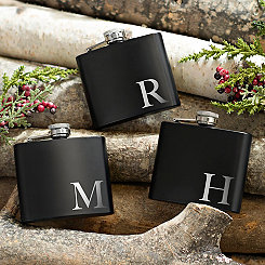 Assorted Black Monogram Flasks