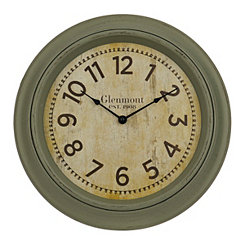 Turquoise Wash Traditional Wall Clock