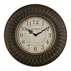 Bronze Weave Wall Clock