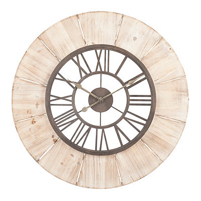 Shelby Wood Grain Clock